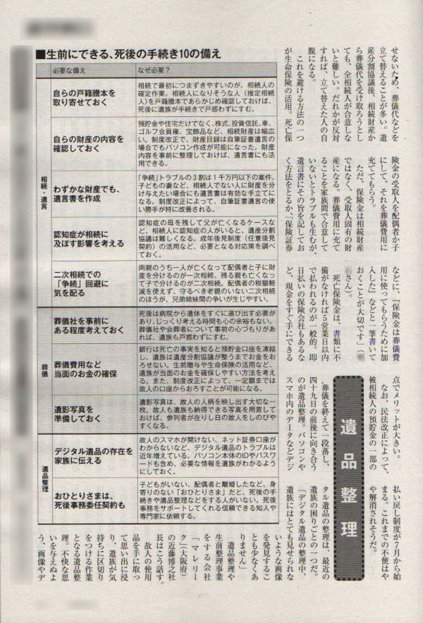 デジタル遺品整理について「週刊朝日」の取材に協力いたしました